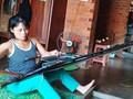 อนุรักษ์อาชีพทอผ้าลายพื้นเมืองในหมู่บ้าน Kmrơng Prong A