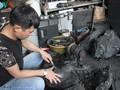 Herstellung von Kohle-Skulpturen – ein einzigartiger Beruf in Quang Ninh