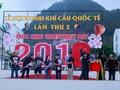 Zweites internationales Heißluftballon-Fest in Moc Chau