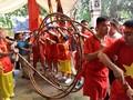Ritual vom Tauziehen am Tempel-Tran Vu in Hanoi