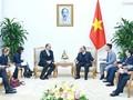 阮春福先后会见中国和丹麦新任驻越大使