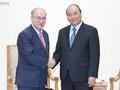 Premierminister Nguyen Xuan Phuc empfängt den Vorsitzenden des World University Service