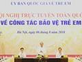 Nguyên Xuân Phuc à la visioconférence nationale sur la protection de l'enfance