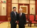 Nguyen Phu Trong 총서기장; Thongloun Sisoulith 라오스 총리 회견