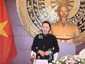 Chủ tịch Quốc hội gặp cán bộ Đại sứ quán và Đại diện cộng đồng người Việt tại Trung Quốc
