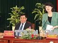 La vice-présidente Dang Thi Ngoc Thinh à Binh Dinh