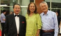 Pertemuan dengan para diaspora  Vietnam di kota Ho Chi Minh.