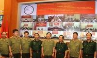 Konferensi online tentang  pembelaan keamanan nasional antara Kementerian Keamanan Publik dan Kementerian Pertahanan Vietnam