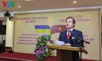 Pertemuan  para veteran perang Ukraina sehubungan dengan peringatan ultah ke-70 Berdirinya Tentara Rakyat Vietnam