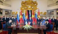 Media komunikasi internasional memberikan apresiasiterhadap kunjungan PM Rusia, Dmitry Medvedev di Vietnam