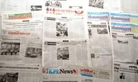 Pers internasional  memuat berita tentang upacara peringatan ultah ke-40 pembebasan total Vietnam Selatan dan penyatuan Tanah Air Vietnam