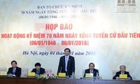 Jumpa pers memperkenalkan aktivitas-aktivitas memperingati ultah ke-70 hari pemilu pertama MN Vietnam
