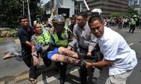 Serangan bom di Jakarta, ibukota Indonesia menimbulkan banyak korban