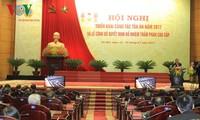 Presiden Vietnam, Tran Dai Quang menghadiri Konferensi penggelaran  pekerjaan tahun 2017 dari instansi pengadilan Vietnam