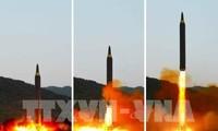RDRK melakukan uji coba puluncuran  rudal balistik