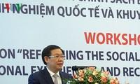 """Lokakarya: """"Reformasi kebijakan  gaji, pengalaman internasional dan Vietnam"""""""