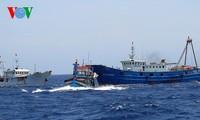 中部漁民、中国の横暴な行為にも屈せず