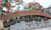 北部ナムディン省にある500歳の瓦屋根付きの太鼓橋