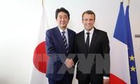 日仏首脳 対朝鮮民主主義人民共和国制裁決議の完全履行へ協力確認