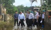 ミン副首相兼外相、洪水被災地を視察
