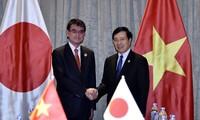 ミン副首相兼外相 日本の河野外務大臣と会見