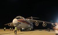 ロシアの支援物資、カムラン空港に運ばれる
