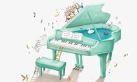 ベトナムポップソングのピアノ演奏