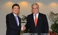 Presiden Vietnam Truong Tan Sang menerima Presiden Cile Sebastian Pinera Echenique.