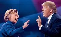 Donald Trump  sementara sedang mengungguli Hillary Clinton