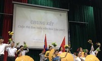 "Sayembara ""Mencari tahu tentang kebudayaan Laos""-Jembatan penghubung antara mahasiswa dua negara Vietnam dan Laos"