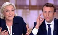 Debate televisivo entre dos candidatos a la presidencia francesa