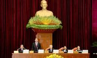 Dirigentes vietnamitas discuten temas importantes en V conferencia del CC del Partido