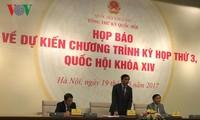 Parlamento vietnamita se prepara para su tercer período de sesiones
