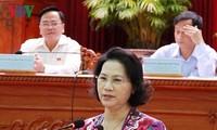 Dirigentes legislativos vietnamitas se reúnen con electores