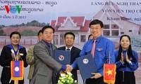 Jóvenes vietnamitas y laosianos amplía su cooperación