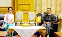 Myanmar's speaker and opposition party leader agree on national reconciliation