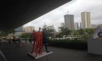 Exhibit of sculptures and architectural symbols opens