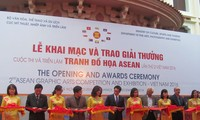 ASEAN graphic paintings displayed in Hanoi