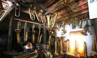 Pham Phao villagers make brass instruments