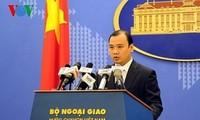 外務報道官、台湾の実弾演習に抗議