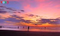ゲアン省のクアロービーチの訪れ
