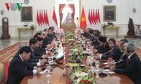 チョン書記長とユドヨノ大統領との会談