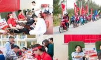 国内各地で「赤い旅」献血運動が行われる
