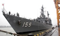 日本自卫队三艘军舰访问海防市