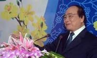 阮春福向越南电力集团拜年