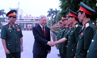 阮富仲出席国防学院开学典礼