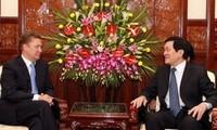 张晋创会见俄罗斯天然气工业股份公司总裁米勒