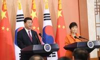 中韩一致同意推动朝鲜半岛无核化