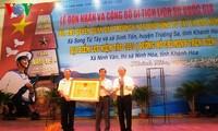 庆和省长沙群岛主权碑获颁国家级历史遗迹证书