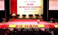 中国和古巴共产党、朝鲜劳动党、统一俄罗斯党领导人致电祝贺越南共产党成立85周年